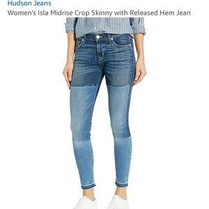 NWOT Isla Midrise Crop Skinny Jean Released Hem